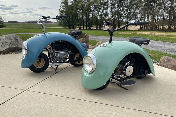 Man Designs A Mini Scooter The From The Parts Of Original Volkswagen Beetle - autojosh