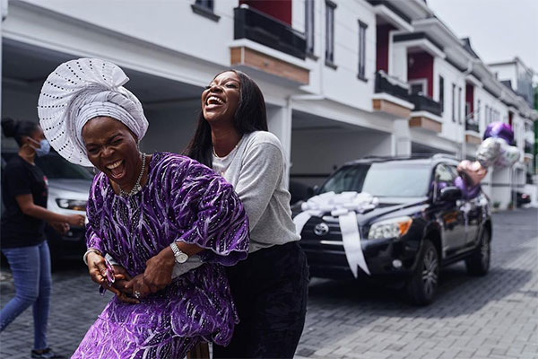 "Nigerian Media Personality, Tomike Adeoye Gifts Her ""Selfless Mother"" Toyota RAV4 - autojosh"
