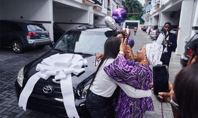 "Nigerian Media Personality, Tomike Adeoye Gifts Her ""Selfless Mother"" Toyota RAV4 - autojosh"