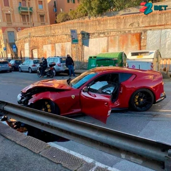 Car Wash Worker Smashed N233m Ferrari 812 Superfast Owned By Goalkeeper Into Barrier - autojosh
