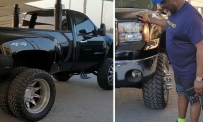 Let Them Say, Dino Melaye Says, As He Flaunts His Customized 6-tyre Chevrolet Silverado 3500HD Heavy-duty Truck - autojosh