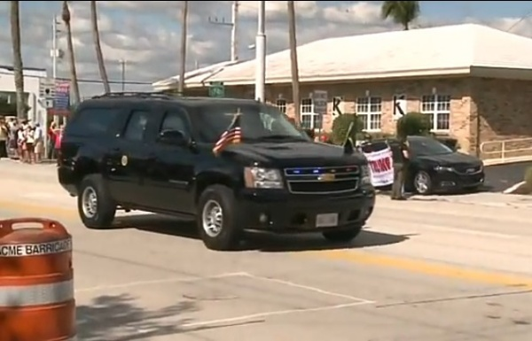 Ex-US President Donald Trump Drives By Supporters In Bulletproof Chevrolet Suburban SUV On His Way To Florida Home - autojosh