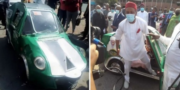 FG Unveils 6hp Made-in-Nigeria Car Built By 30-Year-Old, Plans To Help Upgrade Its Specs - autojosh