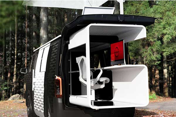 Nissan Unveils NV350 Caravan Office Pod Concept, A True Mobile Office