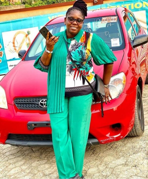"Nollywood Actor, Olatayo Amokade ""Ijebu"" Gifts Wife Toyota Matrix - autojosh"