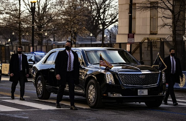 Seven Beast Presidential Limousines Flanked By Dozens Of Armoured SUVs Took Part In Joe Biden's Inauguration - autojosh