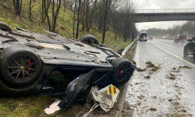 Storm Christoph Blamed After A N233m Ferrari 812 Superfast Crashed Into Barrier - autojosh
