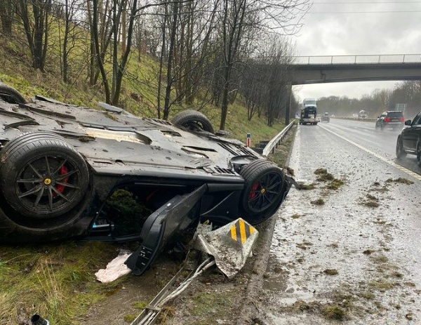 Storm Christoph Blamed After A N233m Ferrari 812 Superfast Crashed Into Barrier - autojosh