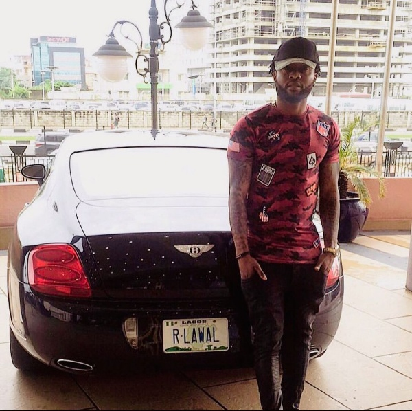 Super Eagles Star Raheem Lawal Flaunts Bentley Continental GT With Customised Number Plate - autojosh