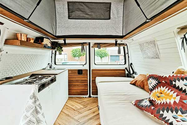 Family Spent Two Months In Turning Their Van Into A Mobile House