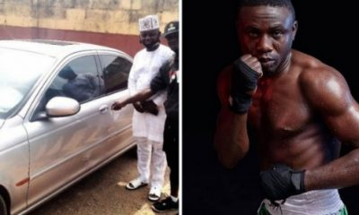 WBF Super Featherweight Champ Ridwan Oyekola Gets Car Gift From Diehard Fan - autojosh