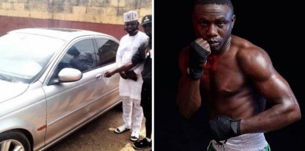 WBF Super Featherweight Champ Ridwan Oyekola Gets Car Gift From Diehard Fan - autojosh