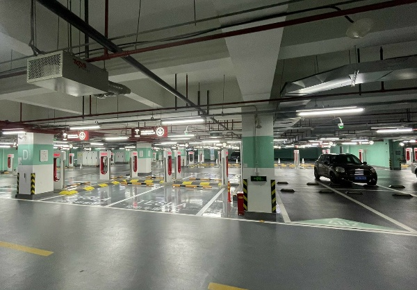 World's Largest Tesla Supercharger Station With 72 Stalls Opens In China - autojosh