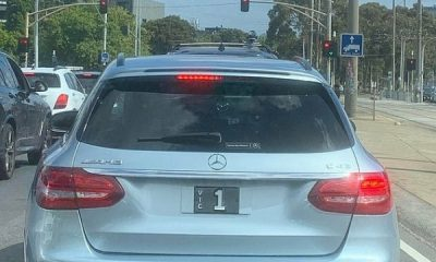 $2 Million License Plate : Mercedes-AMG C43 Spotted Rocking Plate Worth Four Rolls-Royce Phantoms - autojosh