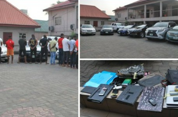 EFCC Arrests 20 Suspected Yahoo Boys In Imo, Recovers Luxury Cars, Including Lexus GX 460 And RX 330, Toyota Venza - autojosh