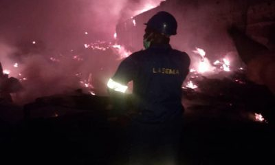 LASEMA To The Rescue As Fire Razes Iddo Railway Terminal, Ijopa Olopa - autojosh