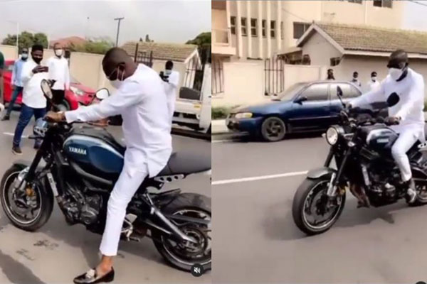 Ghanaian Billionaire Osei Kwame Despite Shows Off His Riding Skills Atop Yamaha Motorcycle - autojosh