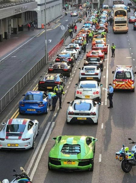 Hong Kong Police Pull Over 45 Sport Cars, Including Lamborghinis, Ferraris, And Porsches, Over Suspected Street Racing - autojosh