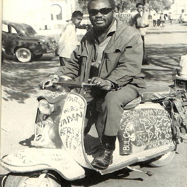 Meet The First Nigerian/African, Ajala, To Ride Round The World On Vespa Scooter (PHOTOS)