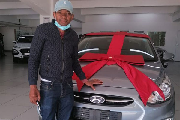South African Police Officer Flaunts New Car He Bought After 13 Years Of Walking To Work - autojosh