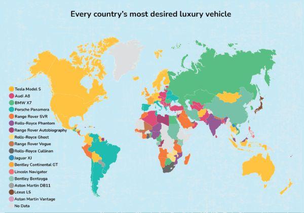 Tesla Model S Beats Phantom, Bentayga And Cullinan As World's Most Desired Luxury Car - Research - autojosh