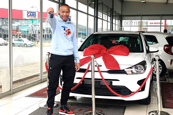 Young Man, Lindokuhle Moses Acquires Kia Rio, Receives Congratulatory Messages And Well Wishes (PHOTOS)