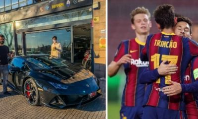 Barcelona Star Trincao Buys £240k Lamborghini Huracan To Celebrate His Winning Goal Vs Real Betis - autojosh