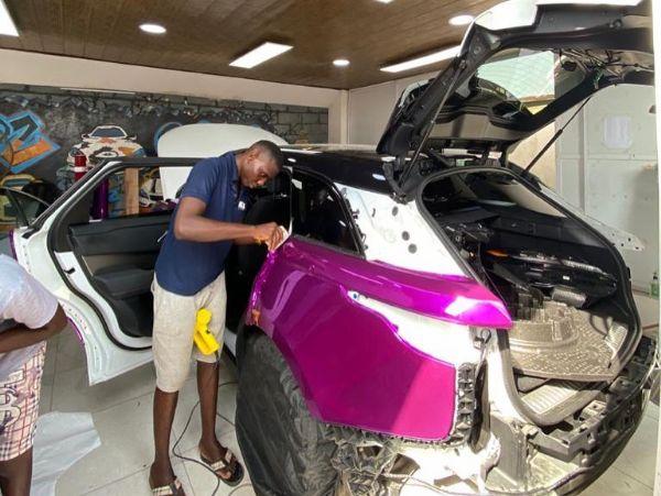 BBNaija Mercy Lambo's Range Rover Velar Wrapped By Khaz Customs - autojosh