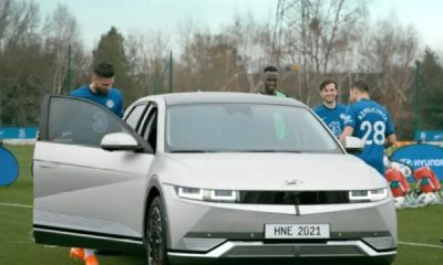 New Hyundai IONIQ 5 EV Puts Chelsea Stars Giroud, Azpilicueta, Mendy And Chilwell, Through Their Paces - autojosh