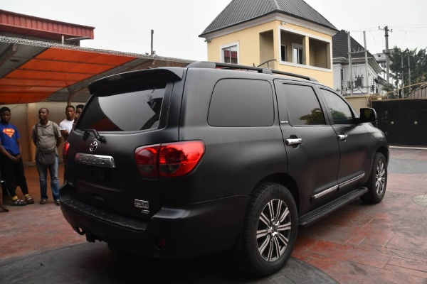 G.O Of Omega Power Ministries Apostle Chinyere Gifts Pastor Bulletproof Toyota Sequoia SUV - autojosh