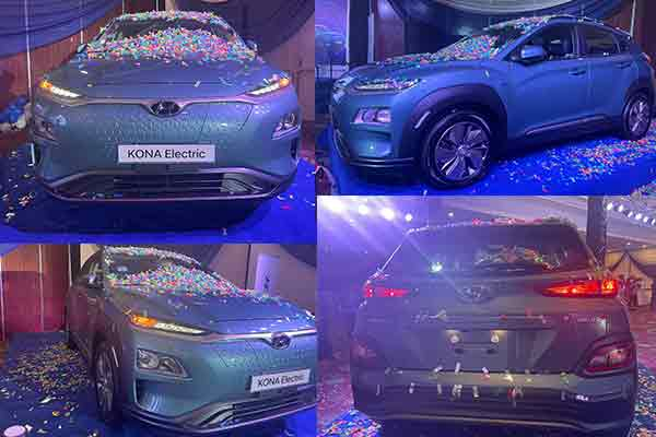 Recently unveiled Hyundai Kona Electric Car - Assembled in Nigeria by Stallion Motors