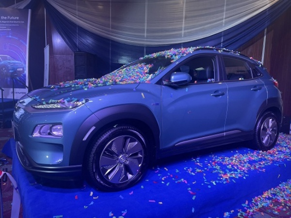 Nigeria's First Electric Car, Hyundai Kona, Can Run For 482 Km When Charged, Charging Takes 9.35 Hours - autojosh