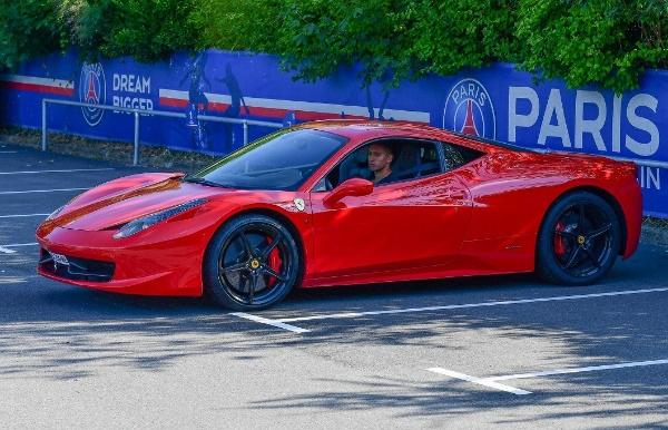 PSG Captain Marquinhos Says He Prefers Taking Taxi Cos His £170,000 Ferrari 458 Italia Is Boring - autojosh