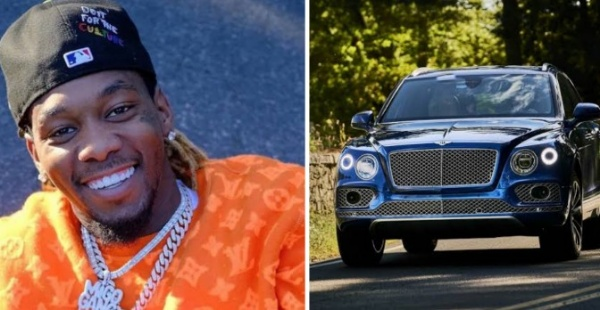 Rapper Offset Sued For $100k For Disappearing With Rental Bentley Bentayga - autojosh