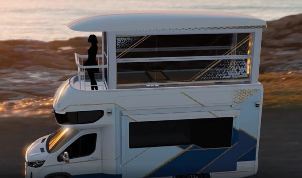 This Double-Decker Luxury Camper From China Has Elevator, Living Room, Kitchen, Bar & Bathroom - autojosh