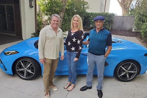 74-year-old Sylvester Stallone Takes Delivery Of His 2021 Chevrolet C8 Corvette - autojosh