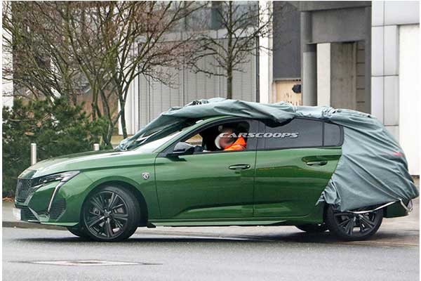 2022 Peugeot 308 Undisguised As It Features The New Company's Logo