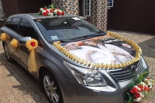 Nigerian Gospel Artiste Gift Ugochi Christopher Gets Wedding Car Gift From His Family - autojosh