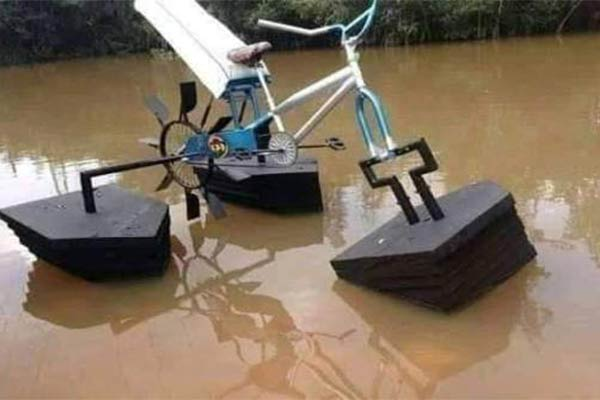 Ghanaian Student Develops Floating Bicycle For People Living In Riverine Areas - autojosh