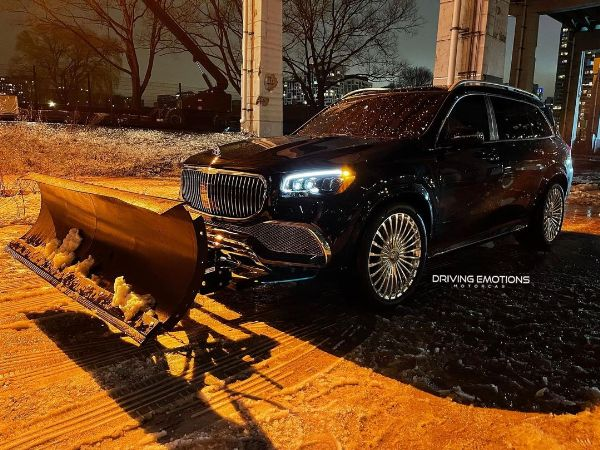 Drake Turns $160k Mercedes-Maybach GLS 600 SUV Into World's Most Expensive Snow Plow - autojosh