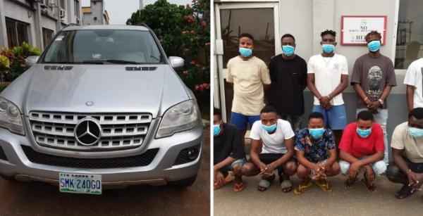 EFCC Arrests 10 Yahoo Boys In Ondo, Recover 8 Luxury Cars - autojosh