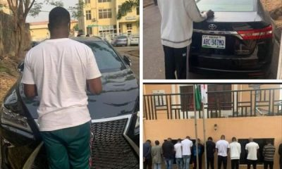 EFCC Raids Yahoo Boys Hideouts In Abuja, Arrest 13, Recovers Cars, Including Lexus RX And Toyota Avalon - autojosh