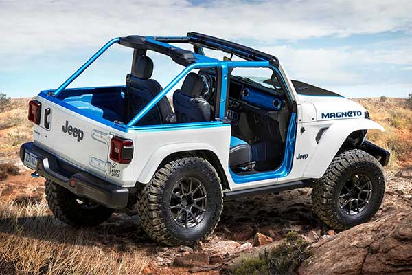 Jeep Unleashes All Electric Magneto Concept And Its A Manual Gearbox SUV
