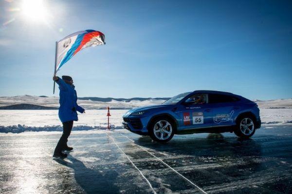 Lamborghini Urus Hits 185 mph To Set New Record On Ice At Russia's Frozen Lake Baikal - autojosh