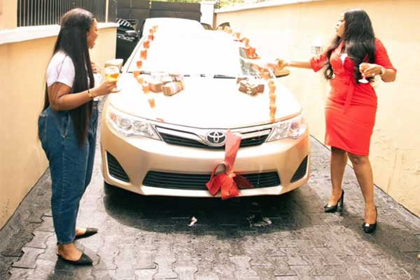 Laura Ikeji Receives A Toyota Camry Car As A Birthday Gift