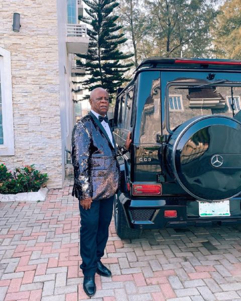 Linda Ikeji's Dad Poses With His Latest Toy, A Mercedes-AMG G63, As He Turns A Year Older - autojosh