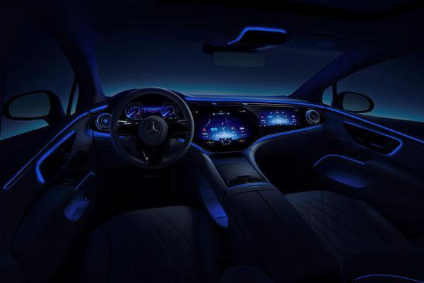 Mercedes Shows Off Impressive 56-Inch Hyperscreen Inside 2022 EQS All-electric Luxury Sedan -