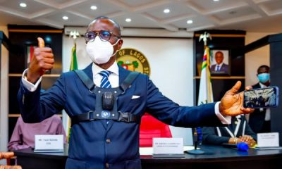 Sanwo-Olu Introduces Body Camera For Lagos Law Enforcement Officers, First In Nigeria - autojosh