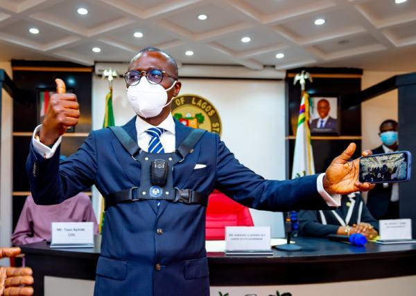 Sanwo-Olu Introduces Body Camera For Lagos Law Enforcement Officers, First In Nigeria - autojosh
