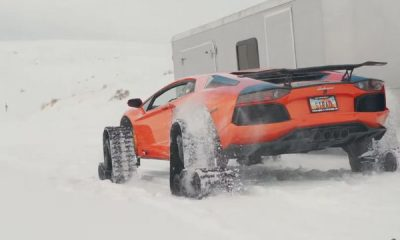 Snowmobile : Watch World's First Lamborghini On Tracks Conquer The Snow - autojosh